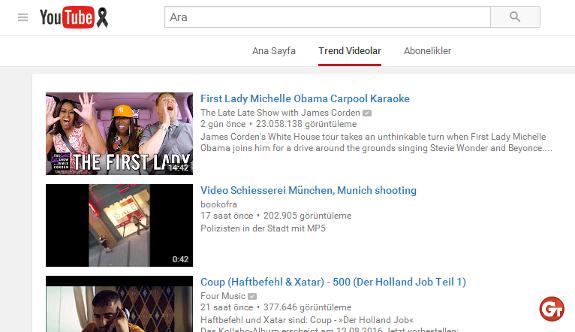YouTube, Almanya'nın hüznüne ortak oldu!