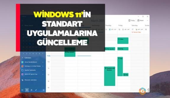 Windows 11'de standart Microsoft uygulamaları güncellendi