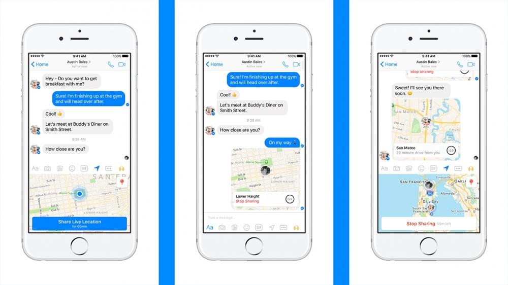 Facebook Messenger'a canlı konum güncellemesi!