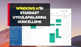 Windows 11'de standart Microsoft uygulamaları...